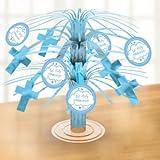 Amscan International Blue Communion Church Foil Mini Cascade Centrepiece (3 Pack)