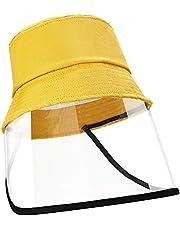 EXTSUD Face Shield Cotton Packable Sun Hats Dust Proof Suitable for Kids 49-51cm