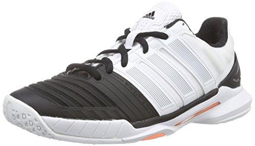 Adidas W Adipower Stabil, Damen Handballschuhe, Weiß (ftwr white/core black/flash orange s15), 40 EU (6.5 Damen UK)