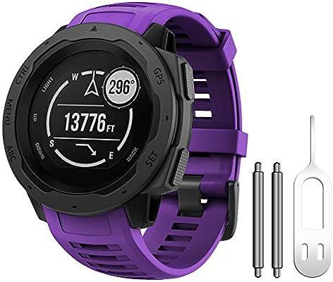 NotoCity Compatible con Correa Instinct Pulsera de Silicona para Instinct Smartwatch Unisex