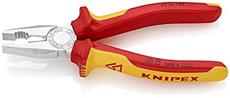 Knipex 306160 Pince universelle 160 mm avec gaines bi composant antid/érapant Chrome