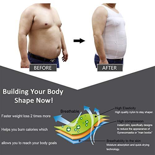 9e9ef85b2c775 HÖTER Mens Slimming Body Shaper Vest Shirt Abs Abdomen Slim (TOP EDITION)