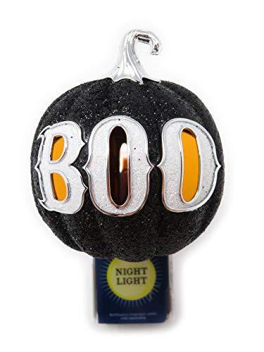 Bath and Body Works Black Pumpkin Boo Halloween Nightlight Wallflower Plug In Diffuser Unit