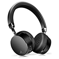 MEIDONG E6 Noise Cancelling Headphones Wireless Bluetooth Headphones on Ear Headphones with Mic 8hs Playing Time for Cellphone Tablet Mp3 MP4 (Black)