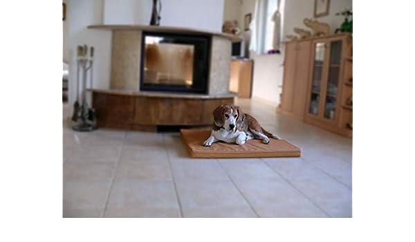 Omar - Ortho ortopédico hundematte piel sintética Perros cama colchón 100 x 135 cm beige: Amazon.es: Productos para mascotas