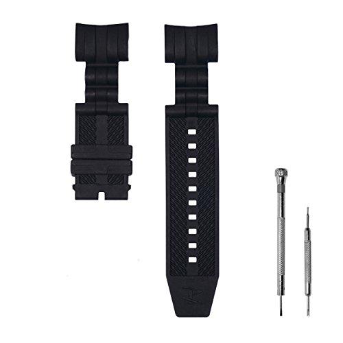CACA for Invicta Watch Replacement Rubber Silicone Band/Strap for Invicta Reserve Jason Taylor Bolt Zeus - Black Invicta Watch Strap