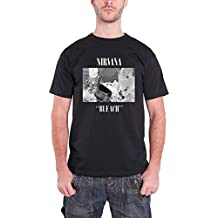 Nirvana T Shirt Bleach Album Cover Band Logo Kurt Cobain Official Mens Black