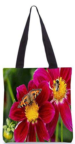 Snoogg Schmetterling Sucht Honig-Einkaufstasche 13,5 X 15 In Einkaufstasche Dienstprogramm Trage Von Polyester Canvas