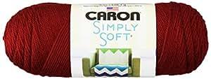 Caron Simply Soft Yarn, 6 Ounces/315 Yards, Autumn Red, Single Ball