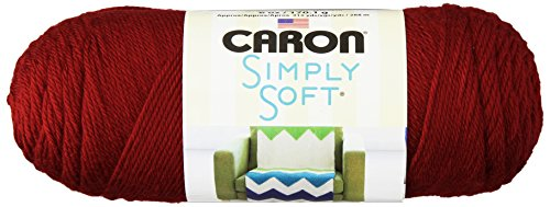 Soft Acrylic Yarn (Caron Simply Soft Yarn, 6 Ounces/315 Yards, Autumn Red, Single)