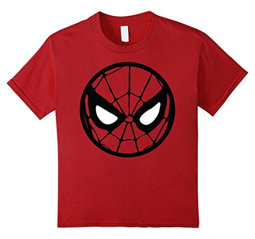 Kids Marvel Spider-Man Circle Mask Graphic T-Shirt 6 Cranberry