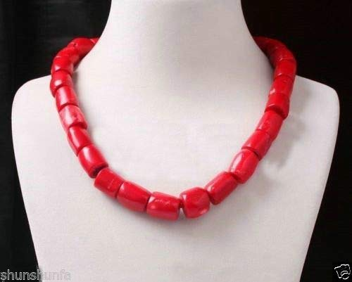- Calvas xiuli 000831 Genuine Sweet red Coral Bead Tibet Silver Necklace