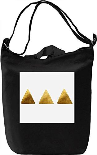 Triangle Print Borsa Giornaliera Canvas Canvas Day Bag| 100% Premium Cotton Canvas| DTG Printing|