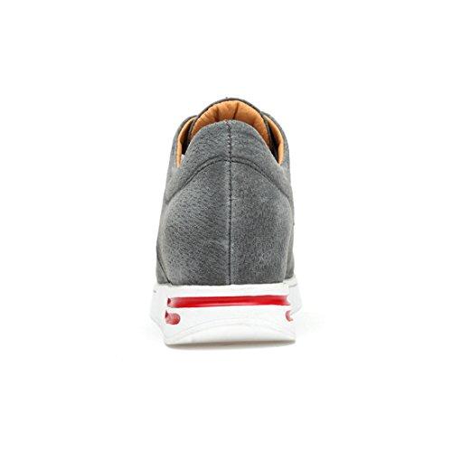 Sneaker Grigio Moda Da Donna Traspirante Nascosta Piattaforma Minishion