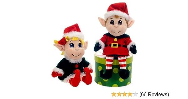 Amazon Com 11 Santas Secret Elf Boy And Girl Set Christmas Plush