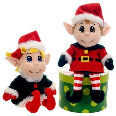 11 santas secret elf boy and girl set christmas plush stuffed animal toy by fiesta - Christmas Plush Toys