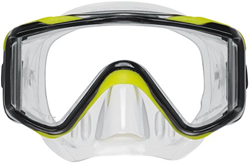 Scubapro Crystal Vu Plus mask - Yellow for Scuba Divers and Snorkelers