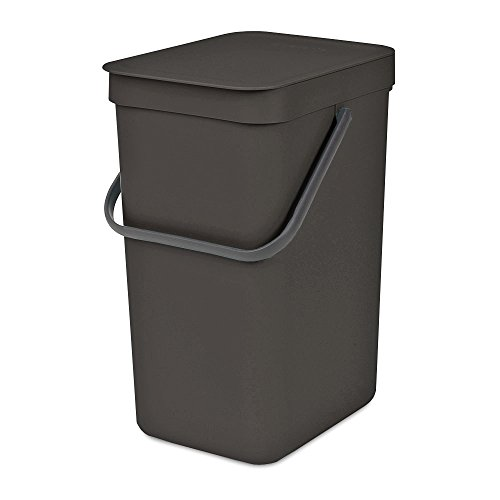 Brabantia 109805 Sort & Go Waste Bin, 12 L, Gray