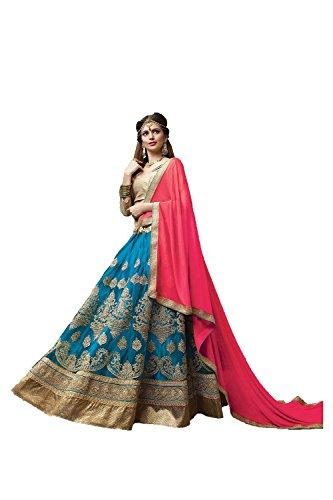 PCC Indian Women Designer Wedding Blue Lehenga Choli Fabz-2065