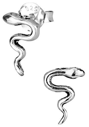 ing Silver Tiny Cobra Snake Stud Earrings for Kids (Nickel Free) ()