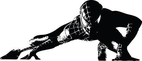Chic Walls Removable Custom Spiderman Venom Marvel Superhero Silhouette Wall Art Decor Decal Vinyl Sticker Kids Room 30 X 13 Black