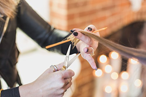Ruvanti Professional Razor Blades Hair Scissors - Barber Hair Cutting Scissor - 6.5'' Japanese Super Cobalt Stainless Steel Hair Shear - Hairdresser Scissor/Barber Scissors with Gold Painted Screw by Ruvanti (Image #3)