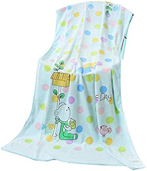 Wumedy Practical Soft Water Absorption Cute Bear Print Home Bath Towel