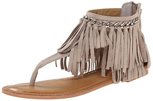 Fringe Shoes (Not Rated Women's Keep The Peace Dress Sandal, Taupe, 8.5 M US)