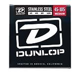 DUNLOP DBS125T Medium Stainless Steel Tapered Bass Guitar Strings, .125-Gauge