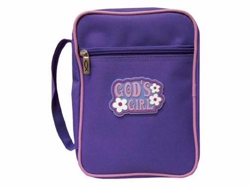 Swanson Christian Supply Canvas Bible Cover God's Girl purple - L