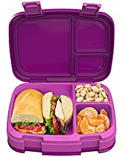 Bentgo Fresh – Leak-Proof, Versatile 4-Compartment Bento-Style Lunch Box with Removable Divider, Portion-Controlled Meals for Teens and Adults On-The-Go – BPA-Free, Food-Safe Materials (Purple)