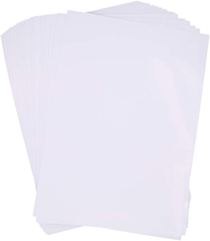 Transparent Imprimante Jet d/'encre 5 Feuilles de Papiers Décalcomanies à eau