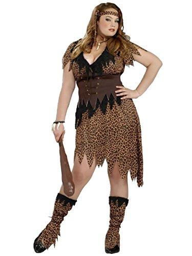 Forum Novelties Women's Plus-Size Cave Beauty Costume, Multi, Plus -