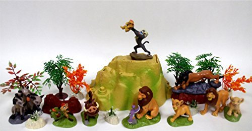 LION KING Play Set Featuring Random Lion King Figures and Accessories, May Include Simba, Scar, Mufasa, Nala, Rafiki, Timon, Pumbaa Figures