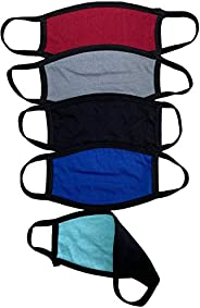 3 Pcs Washable Reusable Cotton with 6 Pcs Activated Carbon Filter Unisex Protection from Dust