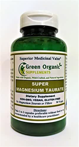 Magnesium Taurate, High Absorbable, 90 VCaps, Non-GMO, Vegan, Gluten Free, Made with Organic, Wild-Crafted, and Natural Ingredients