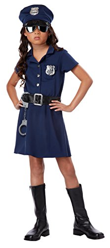 Girls Police Officer Halloween Costume (California Costumes Police Officer Child Costume,)