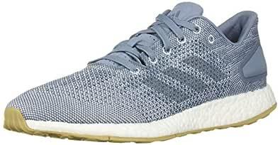 adidas Men's Pureboost DPR Running Shoe, raw Grey/aero Blue, 4 M US