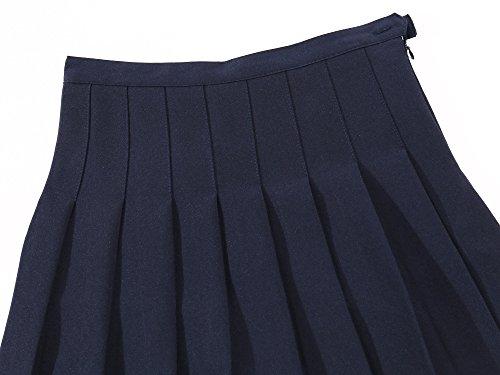 Para Colegio Blue Dark Escolar Niña Scooters Tenis Plisada Single layer Falda 1TEqOnx