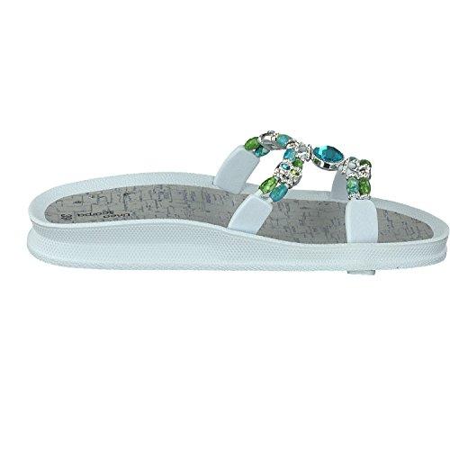 Linea Scarpa ATOKOS Moderno Zapatillas Baño Sandalias Mujer blanco