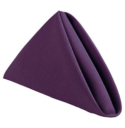 (Royal Crest Sigmatex - Lanier Textiles 100% Murata Jet Spun (MJS) Polyester Cloth Napkins, 20