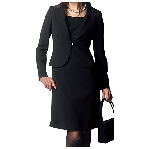 Amel(エイメル) 【ブラックフォーマル】「女優になれると噂の美喪服」テーラードジャケット×エンパイアワンピーススーツ2点セット