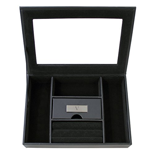 Cathy's Concepts Personalized Men's Valet Box, Letter V