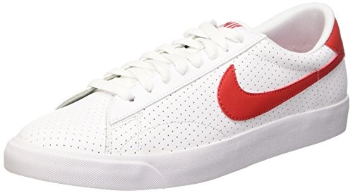 Nike Tennis Classic AC, Zapatillas de Tenis para Hombre, Bianco, 40 EU Blanco / Rojo (White / Unvrsty Red-Brght Crmsn)