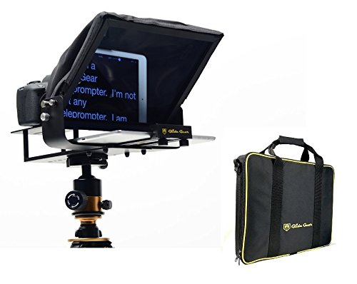 Glide Gear TMP100 Adjustable iPad/ Tablet/ Smartphone Teleprompter Beam Splitter 70/30 Glass w/ Carry Case No Plastic All Metal / No Assembly Required (Canon Mini Video Beam)