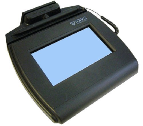 TOPAZ TM-LBK750-HSB-R SIGLITE LCD 4X3 Signature Capture Pad with MSR
