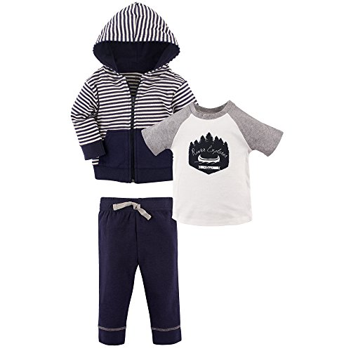 Yoga Sprout Baby 3 Piece Jacket, Top and Pant Set, River Explorer Toddler