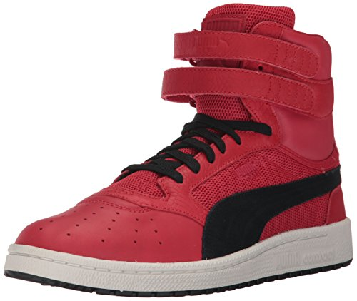 PUMA Men's Sky II Hi Color Blocked Lthr Sneaker, Toreador Black, 8 M US