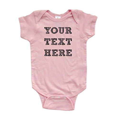 Custom Baby Shirt - Apericots Cute 100% Fully Customizable Custom Customize Text Soft Cotton Baby Creeper