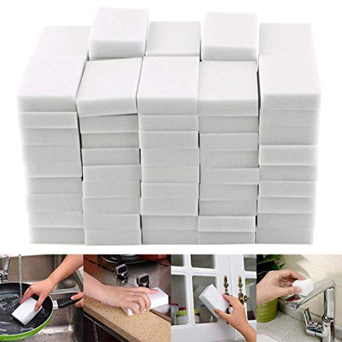 Kindsells 50Pcs Household Sponge Eraser Cleaner Home Kitchen Multi-function Cleaning Tool - Hood Cleaning Kitchen